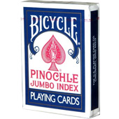 Фотография Карты Bicycle Pinochle Jumbo Index 44, синие [=city]